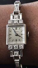 Designer Art Deco Tobias 2ct diamond 3ct Ruby Platinum watch bracelet 6-6.12 in