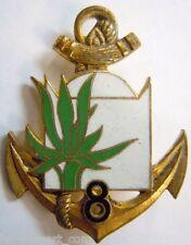 8° RIC émail  Régiment Infanterie Coloniale insigne Drago Paris authentique