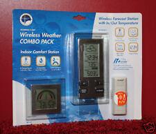 La Crosse WS-9215 Wireless FORECAST & Comfort STATION Set Temperature Clock =NEW