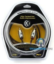 MEMPHIS UTPF-7 7 FEET 2 CHANNEL ULTRA TWISTED RCA AUDIO AMPLIFIER CABLE WIRE NEW