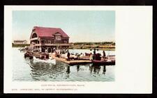 1902 boats dock club house kennebunkport maine postcard