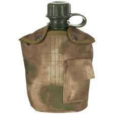 MFH 1L Military Bottle Water Canteen Travel Army Style Hunting Cover HDT Camo FG