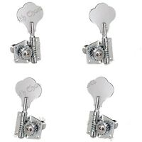 1 Set 2R2L Open Gear Bass String Tuners Tuning Pegs Keys Machine Heads Chrome