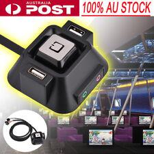 4 in 1 Desktop PC Power Supply on/off Switch w/ Dual USB Ports & Audio Mic Jack