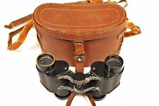 WW2 Japanese Army Binoculars Set w/Leather Case 6x9.5 Moriko Tokyo 374