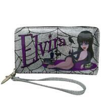 Kreepsville 666 Elvira Glitter Spider Webs Horror Gothic Punk Clutch Wallet WEG