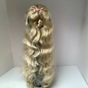 Monique Collection Doll Wig Princess 12-13 Pale Blonde Hair Extra Long NOS
