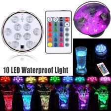 Underwater LED Lights Waterproof RGB Submersible Aquarium Pool Pond Lamp +Remote