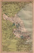 Kiangsu (Jiangsu) China province map. Shanghai Suzhou Nanjing. STANFORD 1908