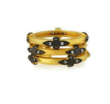 Freida Rothman Old World Style Gold w/Black Vermeil Ring Sz 8  ONE RING