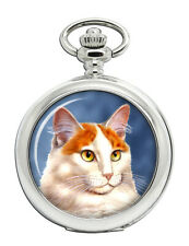 Turkish Van Cat Pocket Watch