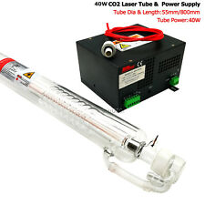 40W(80cm) CO2 Laser Tube and Compatible Power supply