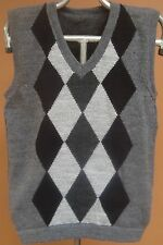 NEW, 100% ALPACA WOOL MEN´S VEST, M SIZE, SOFT, GRAY COLOR, ANDEAN, WARM, SOFT b