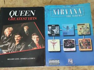 Libro Spartiti Queen e Nirvana Piano Vocal Guitar Informazioni in descrizione