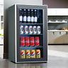 3.1 Cu.Ft. Beverage Soda Beer Bar Mini Fridge Cooler Stainless Steel 120 Cans