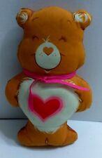 "Care Bears Tenderheart Bear Plush Soft 12"" Orange Mini Throw Pillow Vintage 80s"