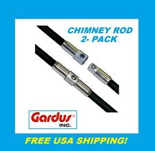 GARDUS CRD307 SootEater Chimney Rod, 2-Pack Set New #CRD307 FREE USA SHIPPING!