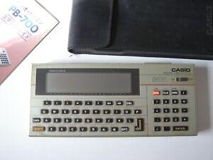 Casio PB-700 personal computer vintage calculator BASIC programmable pocket pc