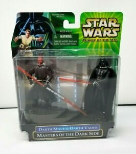 Hasbro 2000 Star Wars Power of Jedi Masters of the Dark Side Maul Vader Figures