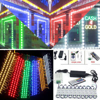 US 160FT 5050 SMD 3 LED Module STORE FRONT Window Light Strip White+Power Remote