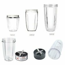 32oz / 24oz / 18oz Cup & Blade Replacement for Nutribullet 600W/900W Models