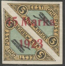"""Estonia 1923 Mi 45BII Distance between '5' and """"M' more than 2 mm, MLH OG"""