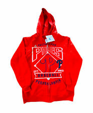 Philadelphia Phillies MLB Hoodie Boys Youth Medium Baseball Zip Up Red NWT (C6wl