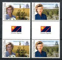 Falkland 2000 Prinzessin Alexandra Pflanzen Royalty Besuch Stegpaare 774-775 MNH