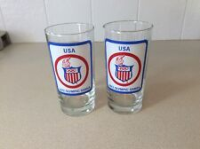 Two 1972 Olympic Games USA drinking Glasses 6 inch tall