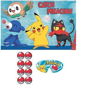 Pokemon Sun & Moon PARTY GAME POSTER ~ Birthday Supplies Decorations Activity