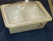 Tasty Temp Food Server, No. 451- 2 Compartments Hot or Cold Plastic Domed Buffet