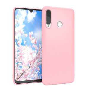 For Huawei P30 Lite cover Soft Case Silicone Protection Slim Matte Pink