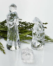 WATERFORD CRYSTAL CHRISTMAS NATIVITY 3 PIECE SET JOSEPH MARY JESUS NEW IN BOX