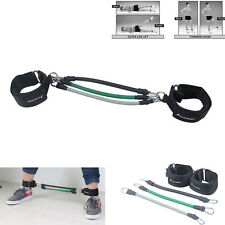 3PCS LEG THIGH RESISTANCE BAND FITNESS WORKOUT EXERCISE LATEX TUBE ANKLE STRAPS