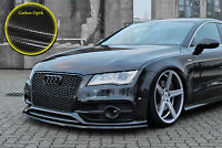 Spoilerschwert Frontspoiler Lippe ABS  Audi A7 S7 S-Line mit ABE in Carbon Optik