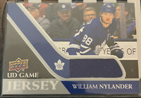2020-21 UD Series 1 Game Jersey William Nylander GJ-WN Toronto Maple Leafs