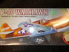 GUILLOWS AUTHENTIC SCALE FLYING MODEL AIRPLANE KIT P-40 WARHAWK