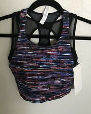 NWT Lululemon Size 4 Break Free Tank Crop Attached Bra Black Blue Red White $68