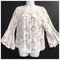 MINT VELVET Women's UK 8 Designer Blouse Floral Print Top Tunic