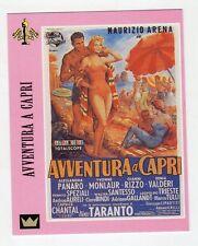 Figurina SUPERCINEMA EVENTS MAXI CARDS NUMERO 125 AVVENTURA A CAPRI