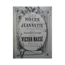 Mass Victor the Wedding of Jeannette Singer Piano Opera 19th Sheet Music
