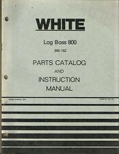 White Log Boss 990 182 No 432 779 Tractor Parts Catalog And Instruction Manual