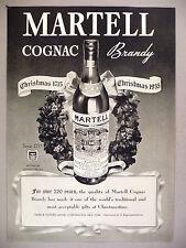 Martell Cognac Brandy PRINT AD - 1935 ~~ Christmas