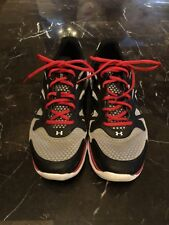 Under Armour UA Team Spine Evo Mens Running Shoes, Black/Silver/Red, Size 11.5