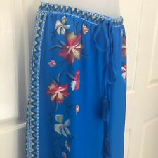 NEW wTag-FLYING TOMATO Blue Floral Palazzo Pants S