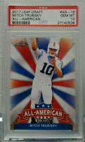 Mitchell Trubisky 2017 Leaf Draft All American PSA 10 Gem Mint Hot rc invest now