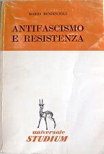 MARIO BENDISCIOLI ANTIFASCISMO E RESISTENZA UNIVERSALE STUDIUM 1964