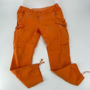 Polo Ralph Lauren Cargo Pants Size 38X32 Orange Straight Fit Military Utility