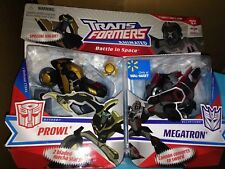 TRANSFORMERS ANIMATED Deluxe Prowl Megatron 2 Pack Walmart Exclusive  New Misb