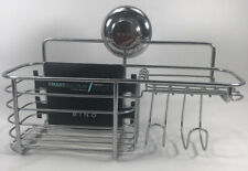 BINO Suction Chrome Shower Caddy, Basket- Hold Up To 11 Pounds- NWT- Chrome